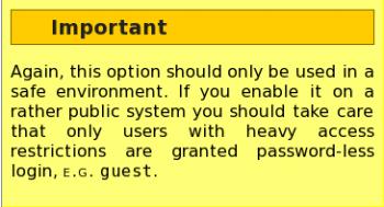 Login Screen Passwordless Caution