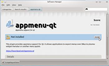 Mint 12 KDE Install Appmenu-qt