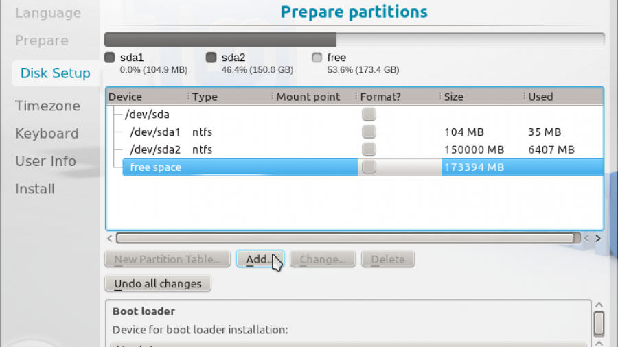 Linux Mint 12 KDE Advanced Partition Tool