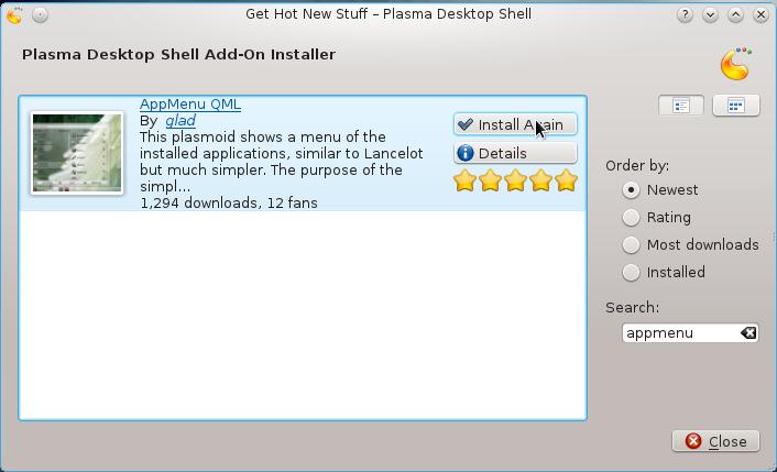 Download AppMenu-QML
