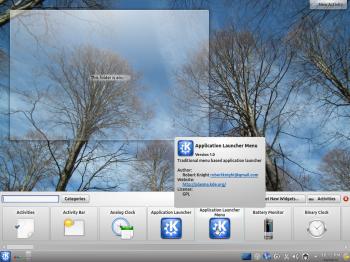 Kubuntu 12.04 Desktop Add Widgets