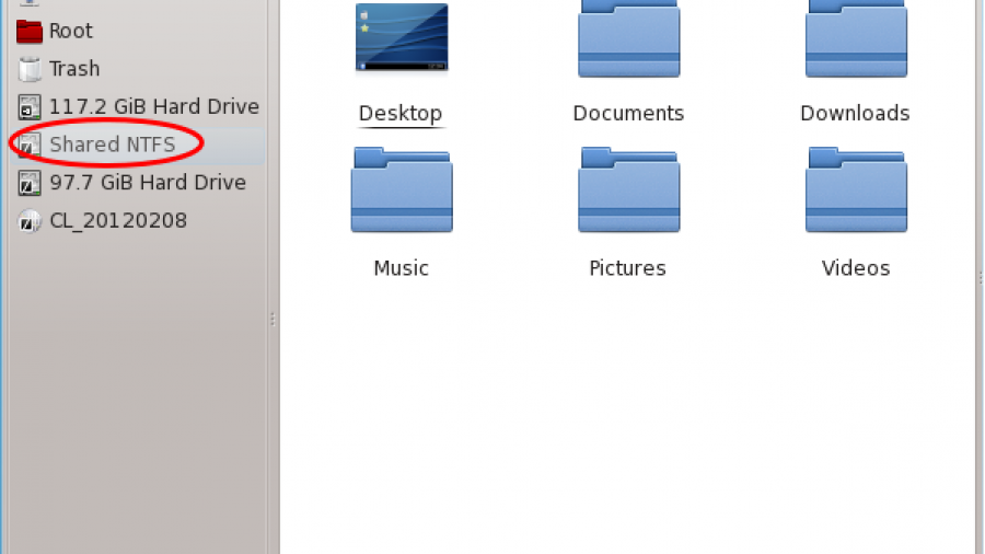 Chakra KDE Dolphin NTFS Partition