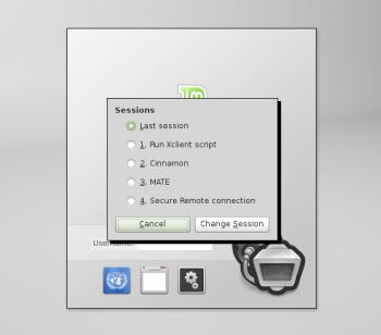Linux Mint Debian Login Screen