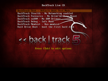 BackTrack 5 R2 GNOME Boot