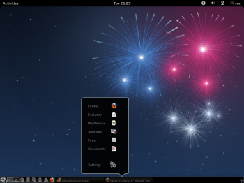 Fedora 17 GNOME Panel-Docklet