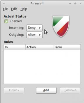 Linux Mint Debian Gufw Enabled