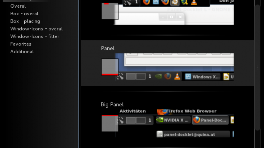 Panel-Docklet Extension Preconfigurations