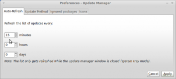 Linux Mint Debian 201204 Updates Manager