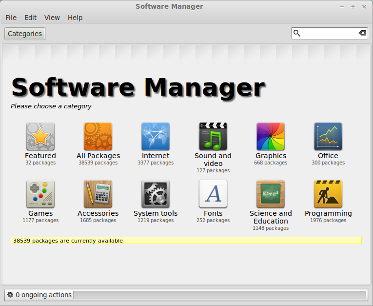 Linux Mint 13 Software Manager