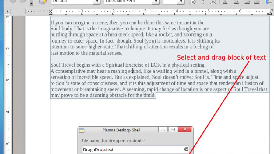 Select, Drag-n-Drop Text StackFolder