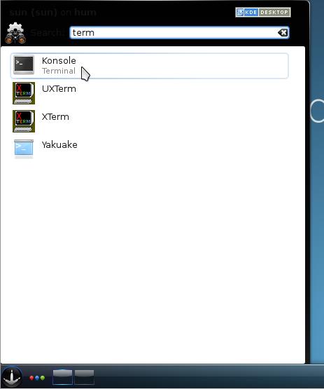 Find Terminal KDE