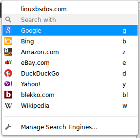 Opera Search Engines Cinnamon