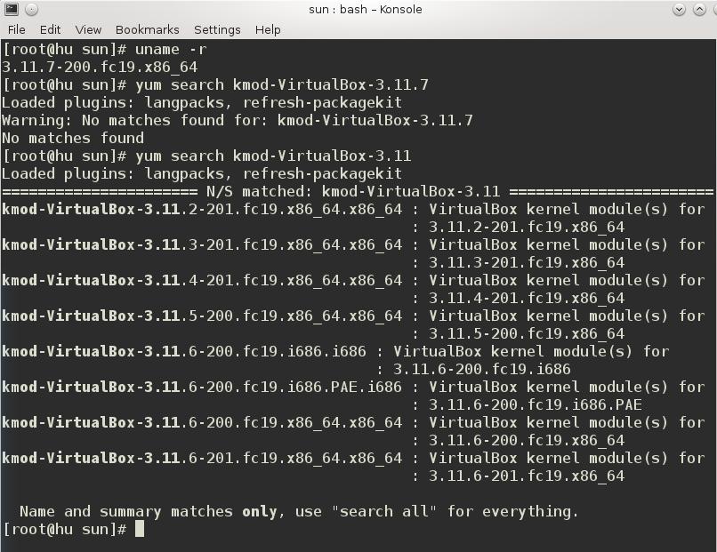 VirtualBox kernel module error Fedora 19