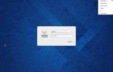 Fedora 20 E17 login screen