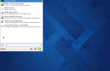 Fedora 20 Xfce Whisker menu search