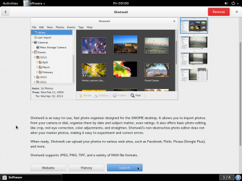 GNOME Software installed app