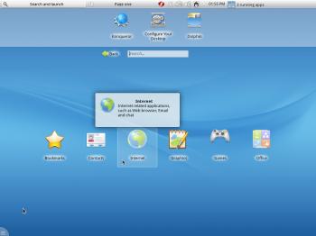 ROSA Desktop Fresh R2 Netbook desktop