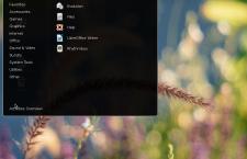 Siduction 2013.2 GNOME 3 app menu