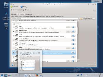 KDE highlight window desktop effect