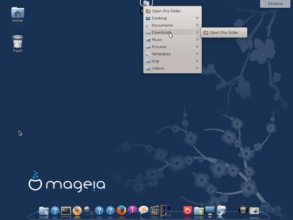 Mageia 4 Cairo-dock KDE integration