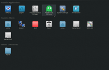Manjaro 0.8.9 KDE Homerun menu
