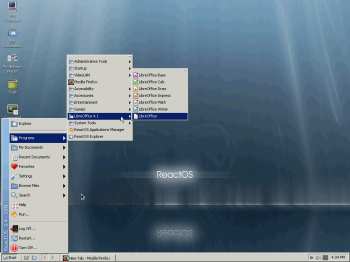 ReactOS App menu category