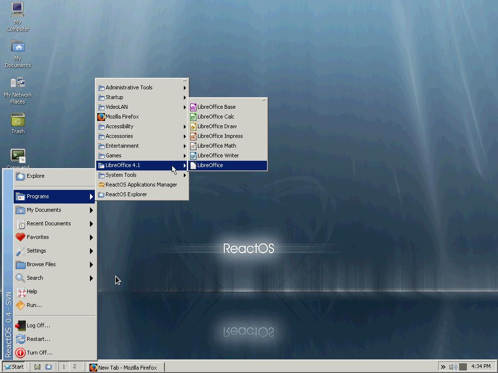 ReactOS App menu category