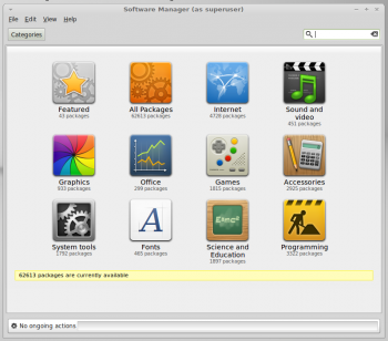 Linux Mint Debian (LMDE) Software Manager