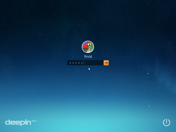 Linux Deepin 2014 login screen