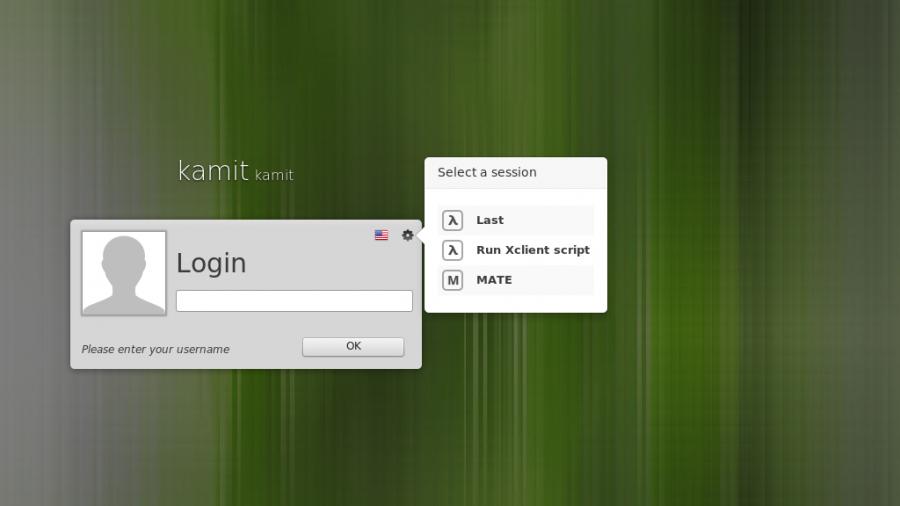 Linux Mint 17 MATE login