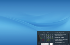 ROSA Desktop Fresh KDE panel calendar