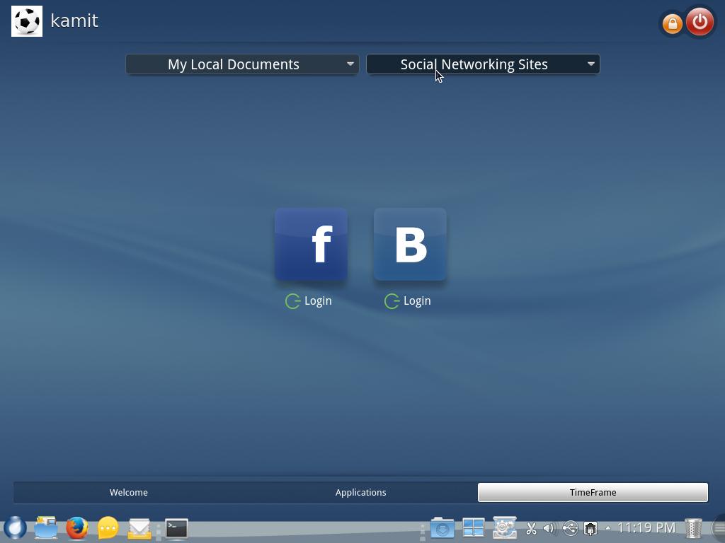 ROSA Desktop Fresh KDE TimeFrame