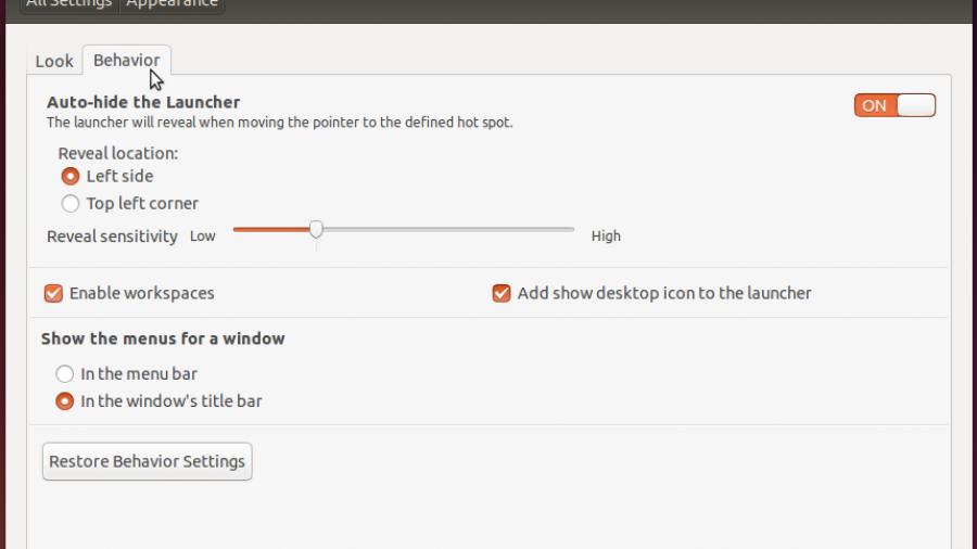Customize Ubuntu 14.01