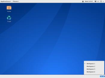 GNOME Classic workspaces Antergos