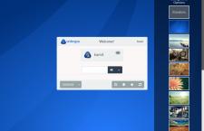 Antergos GNOME 3 Login background