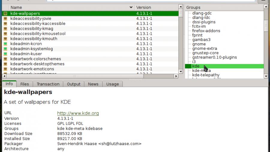 Manjaro 0.8.10 KDE octopi