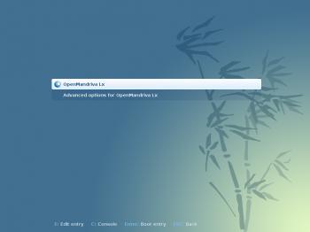 OpenMandriva Lx 2014 GRUB menu