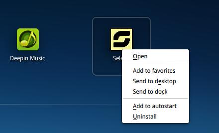 Deepin 2014 Autostart apps