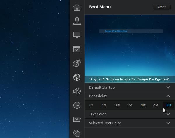 Deepin 2014 GRUB boot delay