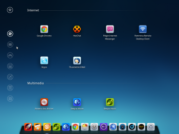 Deepin 2014 app launcher
