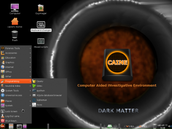 CAINE 6 programming apps