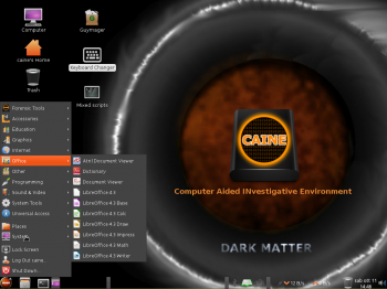 CAINE 6 Office apps