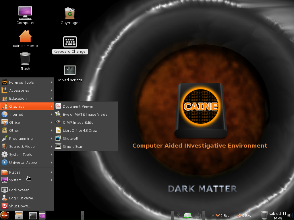 CAINE 6 graphics apps