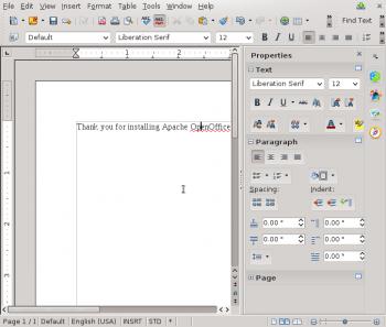 Apache OpenOffice 4.1.1 Writer