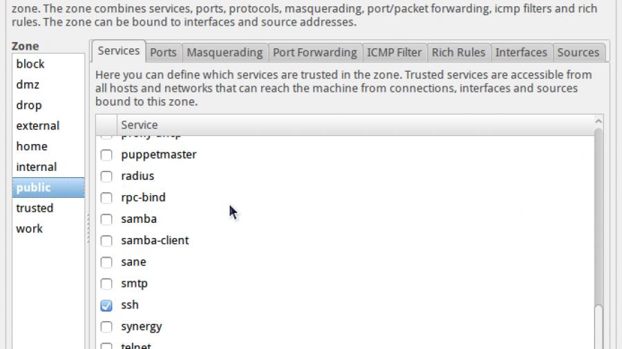 ROSA Desktop Fresh firewall-config