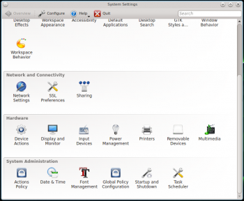 KDE System Settings PC-BSD 10.1