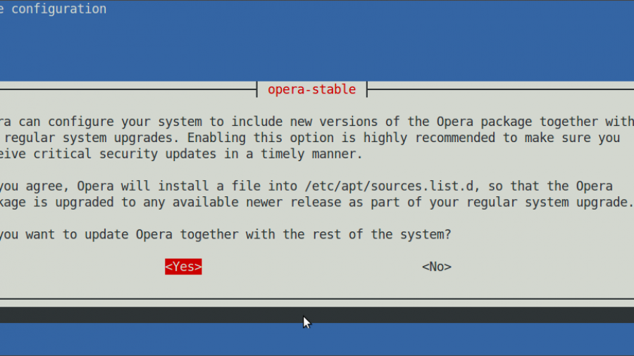 Install Opera for Linux