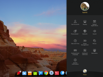 Deepin desktop Control Center
