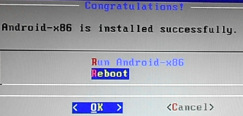 Reboot Android-x86