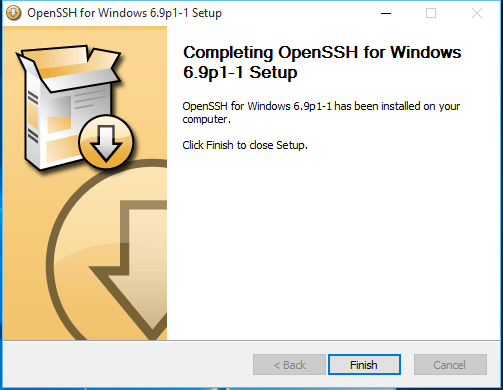 OpenSSH Windows 10